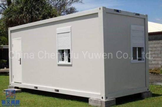 20FT 6 Meters China Prefabricated Flat Roof Pack Container House
