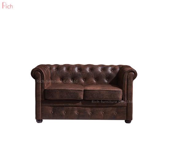Tremendous Office Reception Lobby Retro Loveseat Vintage Leather Sofa Machost Co Dining Chair Design Ideas Machostcouk