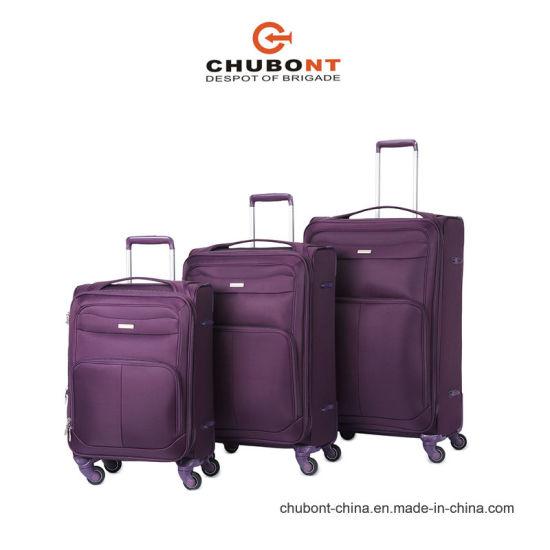 Chubont Color Matching Waterproof 4 Wheels SKD Nylon Travel Suitcase