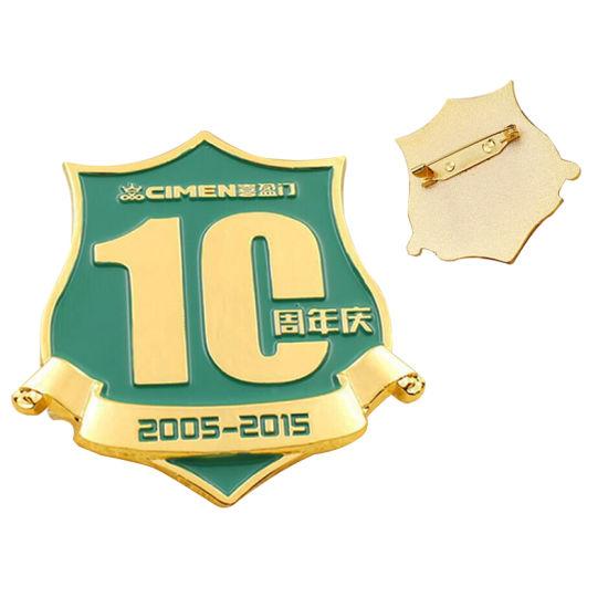 Wholesale Custom Metal Pin Badge with Logo Design (BD10-C)
