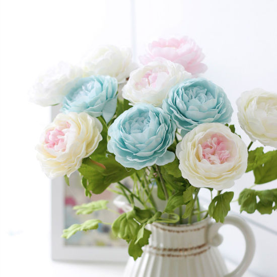 Silk Artificial Rose Flowers for Decoration