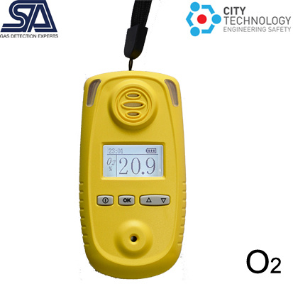 Portable O2 Oxygen Gas Detector with UK Sensor, Data Logger, Gas Pump