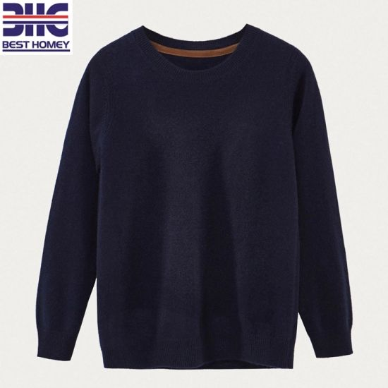 0cb684f99 Boys′ Pure Cashmere Crewneck Knitted Baby Kids Pullover Children Sweater