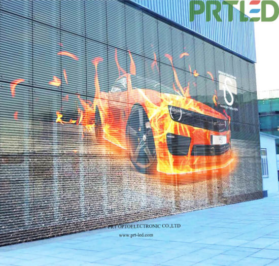 Full Color Indoor Outdoor Video Screen, Window Glass Video Wall, Transparent LED Display (P3.9 P7.8)
