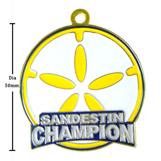 Nickel Plating Gymnastics Sports Promotion Metal Medal with Ribbon