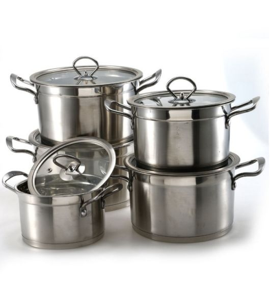 Glass Lid Stainless Steel Cooking Pot