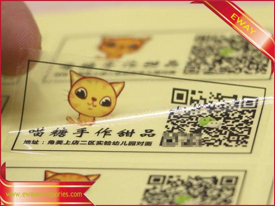 China Clear PVC Sticker Printed Vinyl Sticker Label Sticker