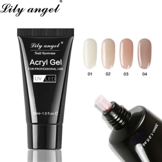 Nail Art Poly Shellac 30g Extend Natural Led Uv Builder Gel Nail Care Glue Polish Kit