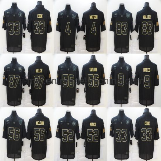 2020 Salute to Service Watson Brees Mack Taylor Nelson Football Jerseys