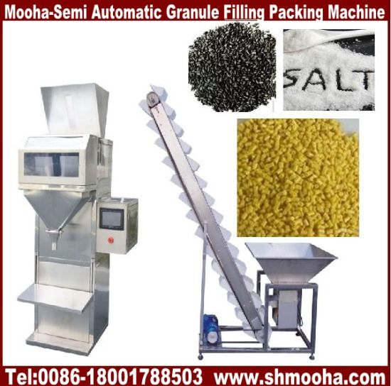 Semi Automatic Granule Pet Animal Food Cookies Bag Weighting Filling Machine