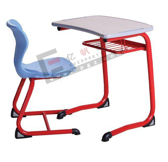Wooden Desk with Plastic Chair for School Classroom Furniture