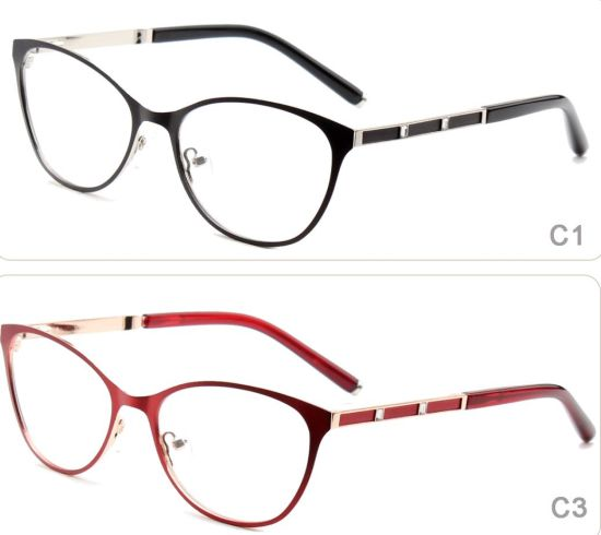 164dafc63023 Online Fashion Eyeglasses Frames Metal Stainless Steel Eyewear Ready Goods  Stock Optical Frame Glasses for Woman with Diamonds