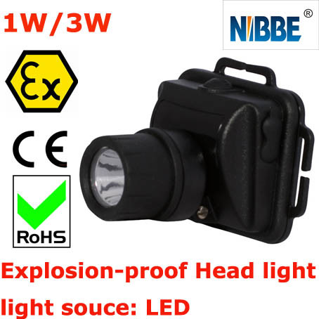 Explosion Proof LED Miner Cap Lamp 3W Rechargeable Emergency Headlight
