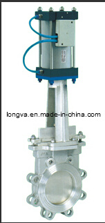 Actuated Knife Gate Valve with Pneumatic pictures & photos