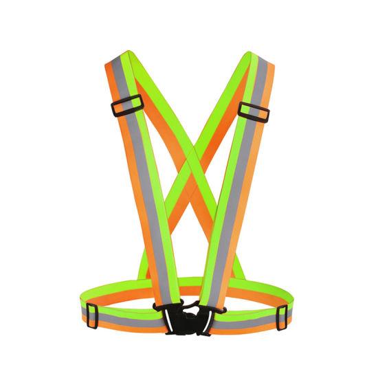 Low MOQ Running Reflective Vest Reflective Gear Customized Logo Running Vest