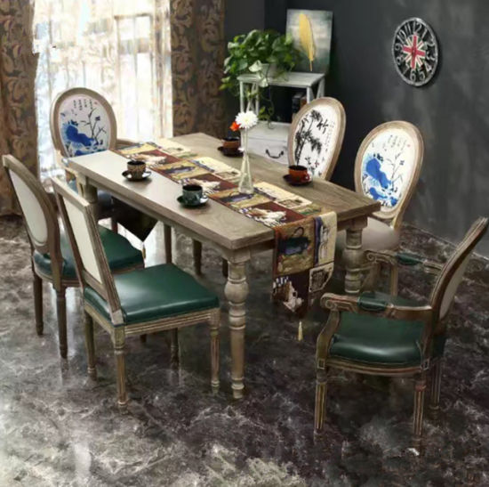 Custom Project Furniture Simple Rectangle Round Curved Center Dining Table