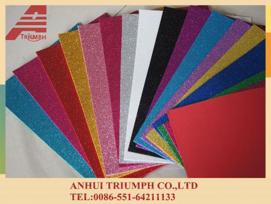 China Colorful EVA Foam Sheet with Glitter Powder - China