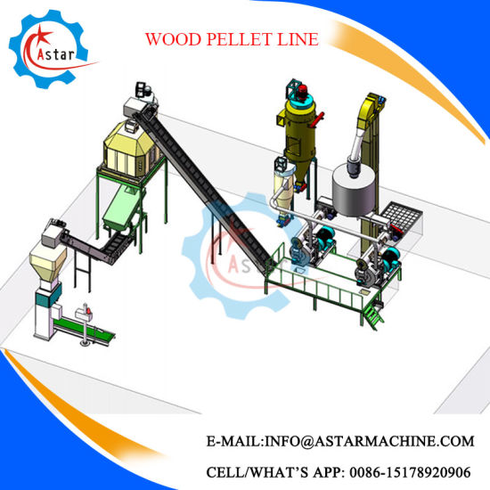 3t/H Wood Logs Wood Shaving Pellet Line pictures & photos