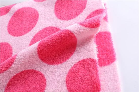 220g 150d Printed Coral Fleece