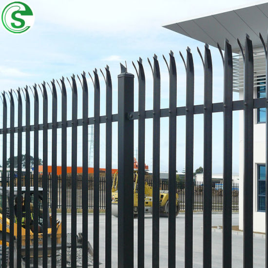 Easily Transport Galvanized Palisade Fence D and W Profile Design Fence