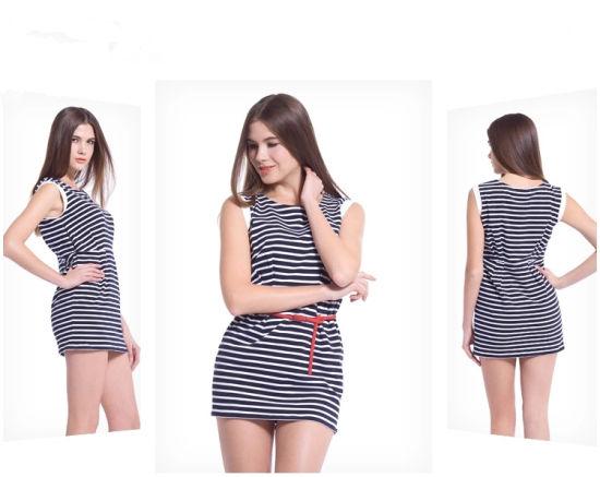 High Quality Sleeveless Women Stirpe Fashion Clothing