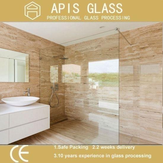 China 38 12shower Bathroom Panel Screen Glass Interior Door
