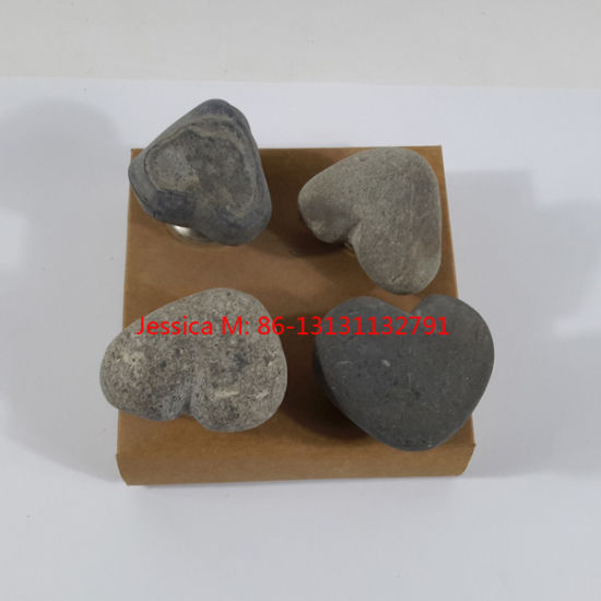 China River Rock Stone Furniture Knobs Stone Cabinet Knobs Stone