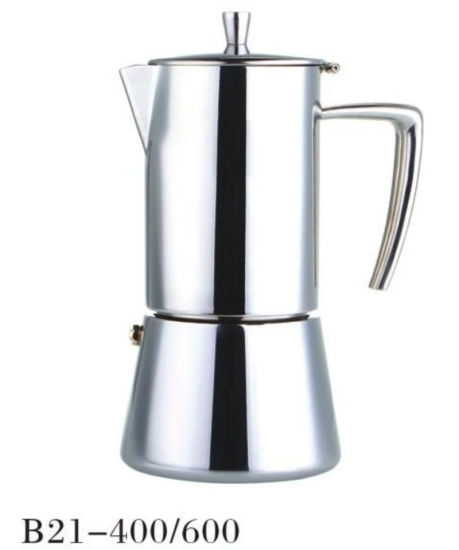 4/6cup Stainless Steel Moka Espresso Stove Moka Coffee Maker pictures & photos