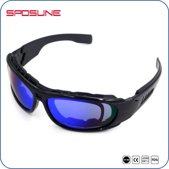 7a5e9b9c382 UV400 Flexible Frame Foam Padded Army Military Police Sunglasses with Rx  Insert pictures   photos