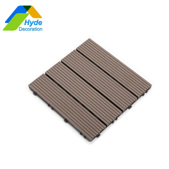 China Wholesale Outdoor WPC Wood Plastic Composite DIY Floor Decking 300X300
