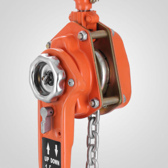 3300lbs 5ft Ratcheting Lever Block Chain Hoist Come Along Puller Pulley