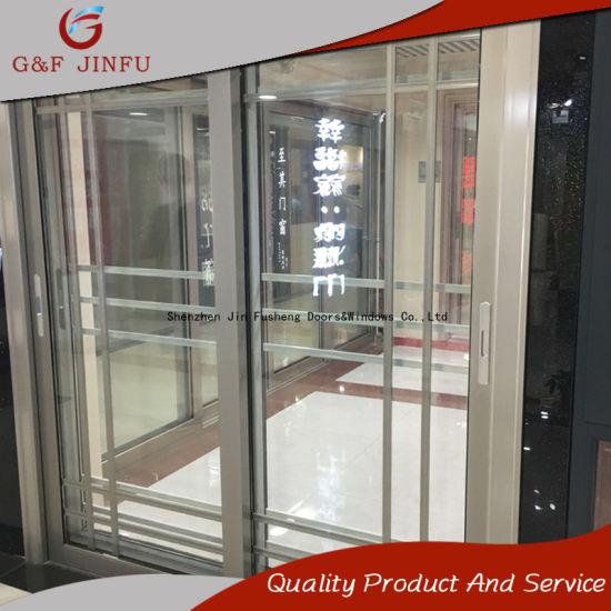 2-Rail Aluminium Profile Sliding Door Interior Exterior Panel Doors & China 2-Rail Aluminium Profile Sliding Door Interior Exterior Panel ...