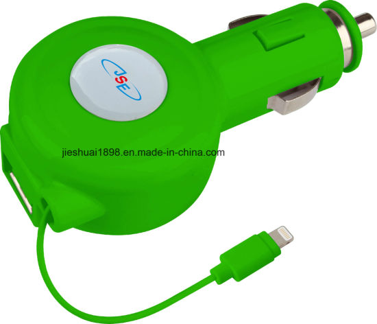 sale retailer 73c00 c36df China Retractable 2.1 AMP Car Charger for iPhone 7, 7 Plus and Other ...