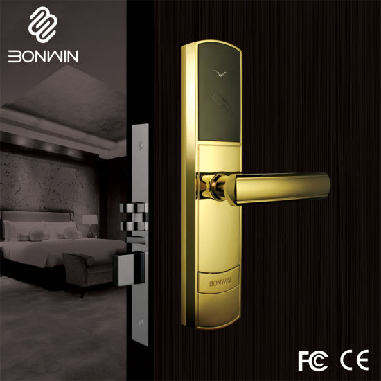 Intelligent Zinc Alloy RFID Electromagnetic Hotel Door Lock System pictures & photos