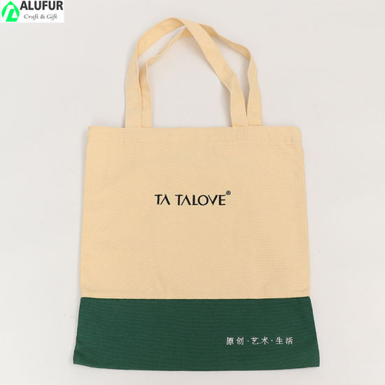 High Quality Promotional Canvas Tote Bag Low MOQ No Gusset
