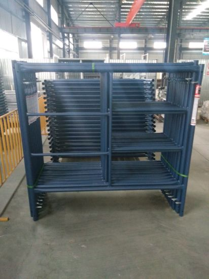 SGS Tested Powder Coated Ladder Frame Scaffolding pictures & photos