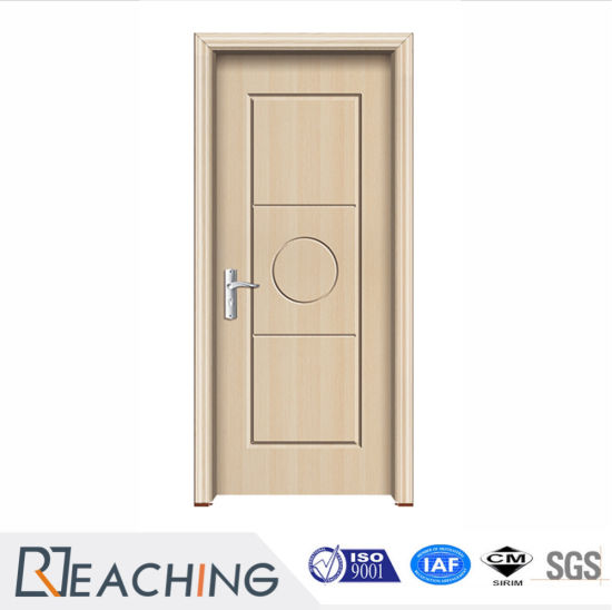 China Simple Design Melamine Wood Veneer Solid Doors Wooden Doors