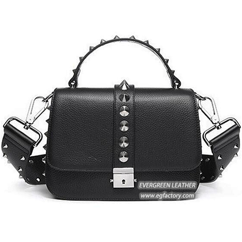 2161cb494d2 China Wholesale Handbag Leather Women Shopping Bag Popular Design Studded  Bag Emg5337 pictures   photos