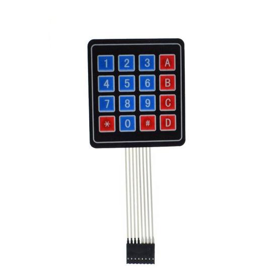 Hot Selling 16 Key 4 X 4 Membrane Switch Keypad 4X4 4*4 Matrix Array Matrix  Keyboard for DIY Arduino Smart Car