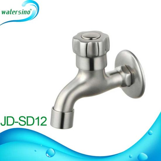 Wall Mounted Spout Time Delay Water Saving Lavatory Faucet pictures & photos