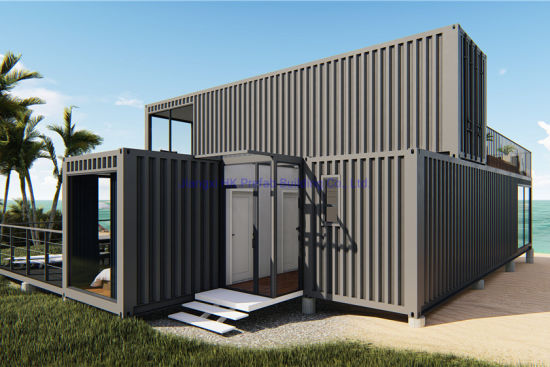Two Floor Modular Prefab/ Prefabricated Portable Container House for Holiday