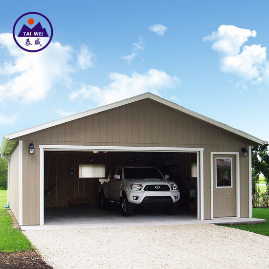 China Low Cost Simple Assembly Car Building Shelter Storage Shed Warehouse Garage China Steel Building Steel Structure
