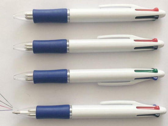 Four-Color Plastic Promotional Ball Point Pen for School Supply