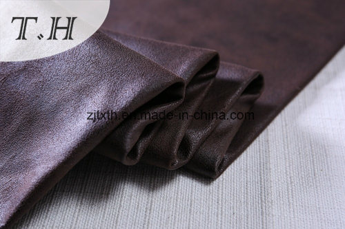 Hot Stamping Uphostery Fabric Suede Fabric for Sofa and Furniture pictures & photos