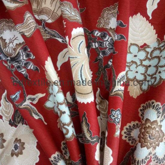 Transfer Printing Microfiber Brushed Bedsheet Fabric for Bedding