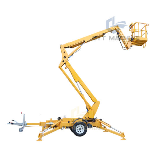 OEM Factory 8-22m Towable Articulated Boom Lift for Aerial Work