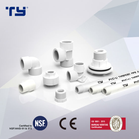 BS Standard PVC Thread Fittings for Water Supply (ELBOW, TEE, COUPLING)