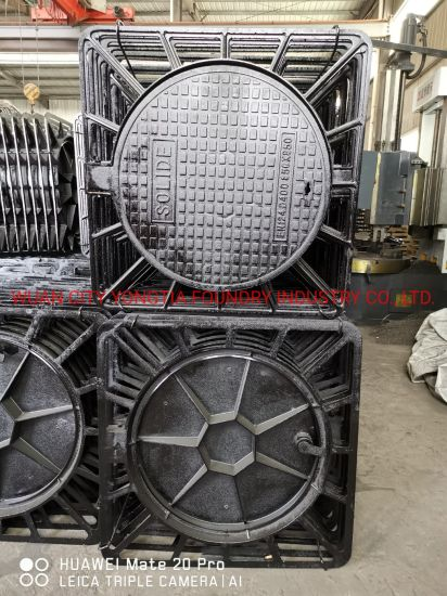 Square C250 Ductile Iron Manhole Cover with Frames En124