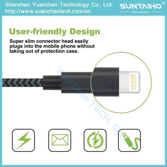 High Quality Manufacture Data Charging Cable USB Cord for iPhone 5/6/7 pictures & photos