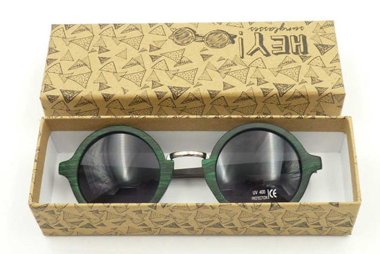 1526791becd F151069 Wholesale Round Frame Sunglass Wooden Bamboo Temple Sun Glasses  Women Style pictures   photos